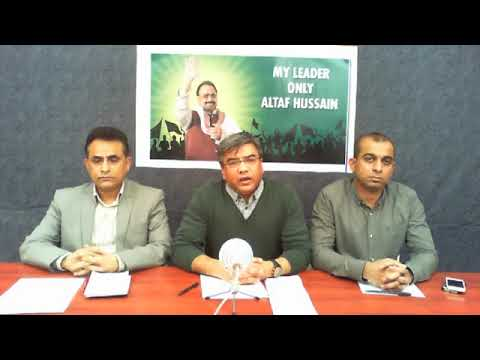 Video Briefing of Coordination Committee of MQM held on 10 November 2017