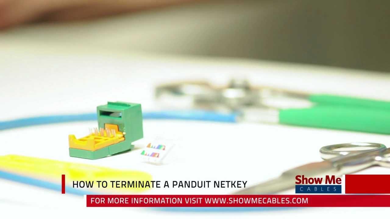 How To Terminate A Panduit Netkey Cat5e Jack Youtube Rj45 Wiring Diagram