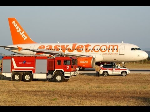 Amazing EasyJet A319 Rejected Take Off at Split Airport SPU-LDSP !