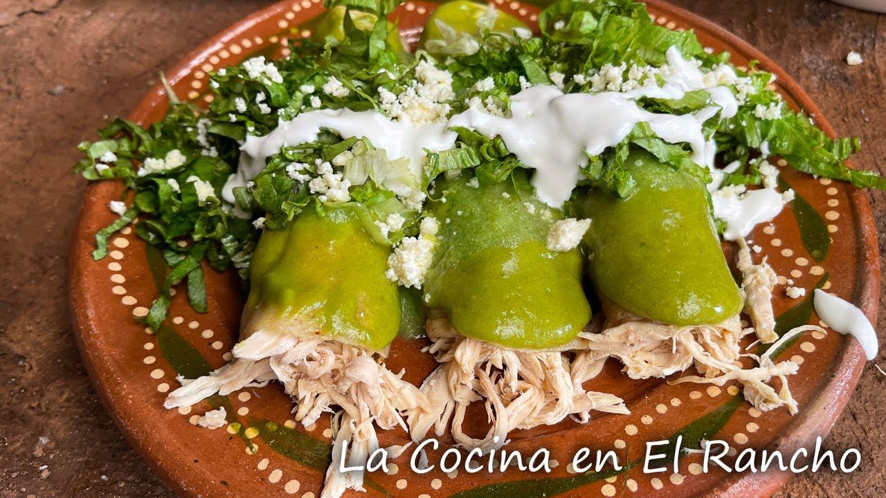 Enchiladas Verdes Cocina Mexicana La Cocina En El Rancho