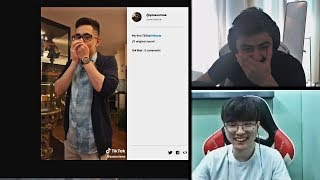 YASSUO REACTS TO TFBLADE'S TIKTOK VIDEO TO HIM | FAKER'S INSANE OUTPLAY | TRICK2G | LOL MOMENTS