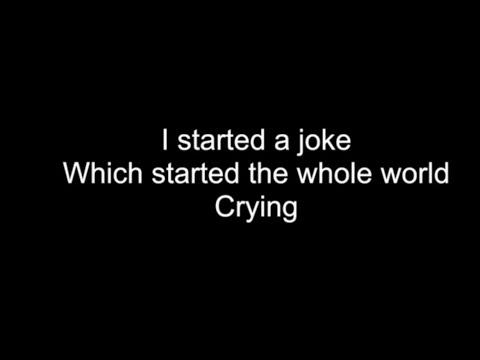 I STARTED A JOKE | HD With Lyrics | BEE GEES by Chris Landmark