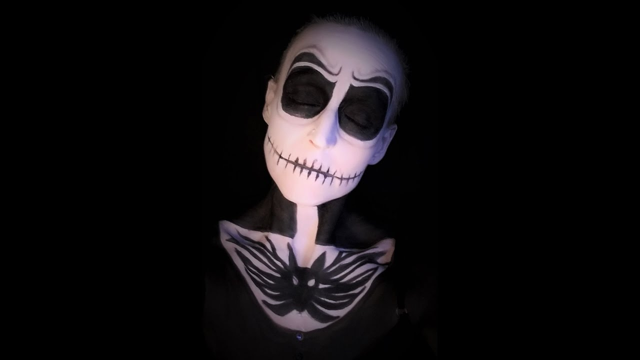 Jack Skellington Halloween Make-Up Tutorial Nightmare Before ...