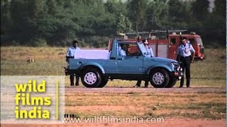 Air Force police gypsy takes round of Hindon air base for security reasons