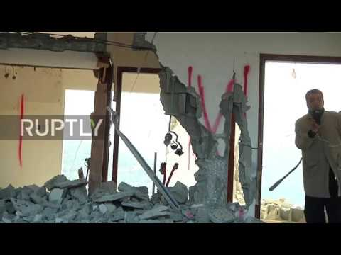State of Palestine: Israeli soldiers partially demolish home of alleged Barkan attacker