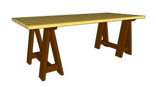 How To Build A Sawhorse Table