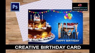 Designing a Creative Baby Birthday Card in Photoshop | Photoshop Tutorial