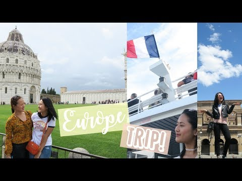 Traveling 5 different cities in Europe! (Toulon, Florence/Pisa, Rome & Vatican)