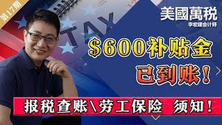 $600补贴金已到账!报税查账劳工保险 须知!《美国万税》第17期Jan02, 2021 - YouTube