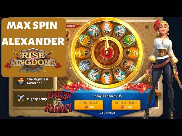 Alexander wheel MAX SPIN - Live - Q/A - Rise of Kingdoms