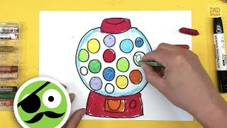 Gumball Machine / How To Draw A Gumball Machine