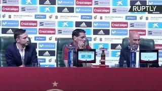 Rueda de prensa de Fernando Hierro, nuevo seleccionador de España