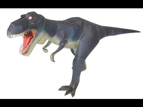 3D Dinosaur Paper Craft | T-REX Tyrannosaurus