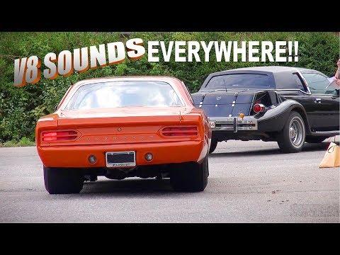 Incredible Line of 200+ Muscle Cars!! - Orimattila Cruising 2018 | V8 Sounds!! |