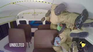 Seat Belt Effectiveness in a School Bus Rollover