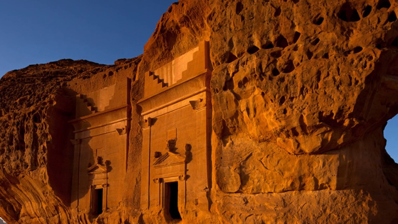 Madain Saleh ( مدائن صالح , also Medain Saleh) is a large archaeological site in Saudi Arabia