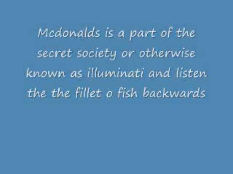 MCDONALDS FILLET O FISH ILLUMINATI