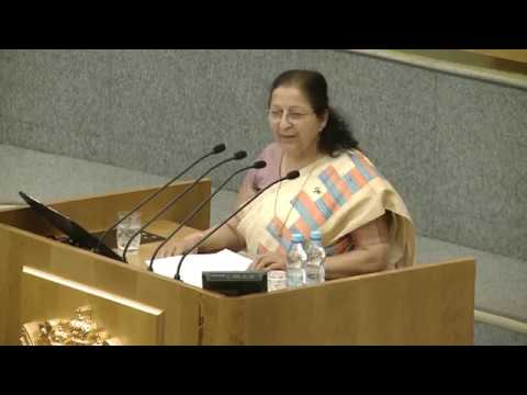 Speech by Lok Sabha Speaker in the State Duma- Parliament of Russia(July 12, 2017)