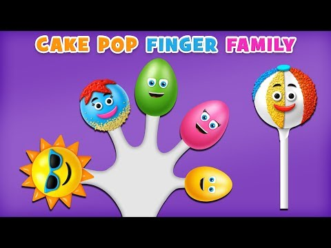 Fun Cake Pop Finger Family with Surprise Eggs