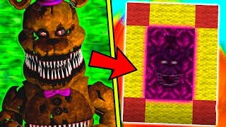 HOW TO MAKE A PORTAL TO THE NIGHTMARE FNAF 4 DIMENSION - MINECRAFT FNAF