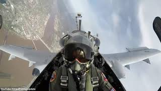 INSIDE VIEW US Military pilot flying the A-10 Aircraft