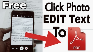 Convert Image to Text Document and Edit    Android Image to pdf converter