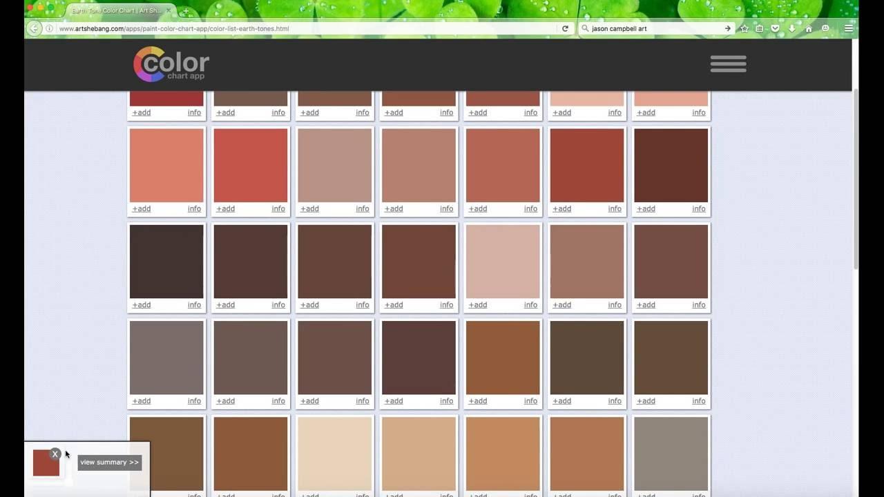 art paint color chart app - youtube