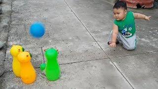 Trò Chơi Bowling Hình Con Sâu  ❤ ChiChi ToysReview TV ❤ Đồ Chơi Trẻ Em Baby Song