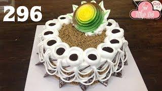 Cách Làm Bánh Kem Đơn Giản Đẹp - Socola Hoa Văn ( 296 )