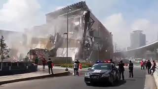Shopping Mall ARTZ Pedregal Collapses in Mexico City! - Compilation