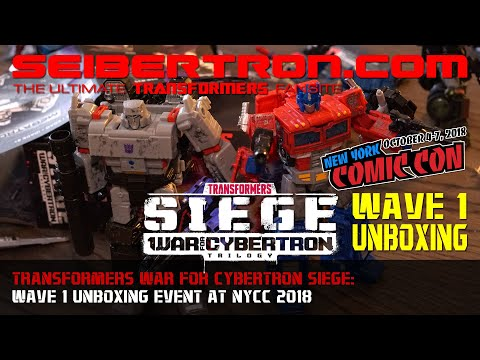 Transformers War for Cybertron SIEGE Wave 1 Unboxing Event at NYCC 2018