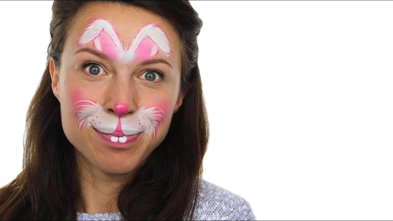 Uncategorized Bunny Face Painting easy easter bunny face paint tutorial snazaroo youtube
