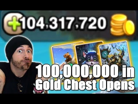 SOUL HUNTERS : 100 Million Gold worth of Gold Chest Opens