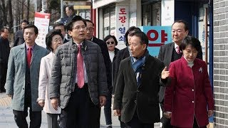 3월 19일 황교안 당대표 홍대 상가 방문