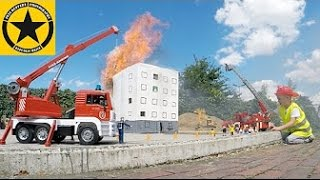 bruder toys fire engines house burns in jack s world playmobil