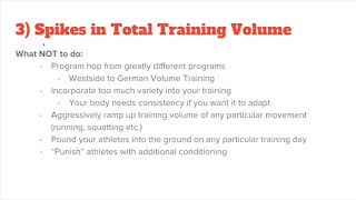How to Spike Training Volume and Get Hurt