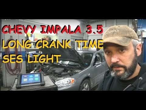 Chevrolet Impala - Extended Crank Time - Service Engine Soon Light