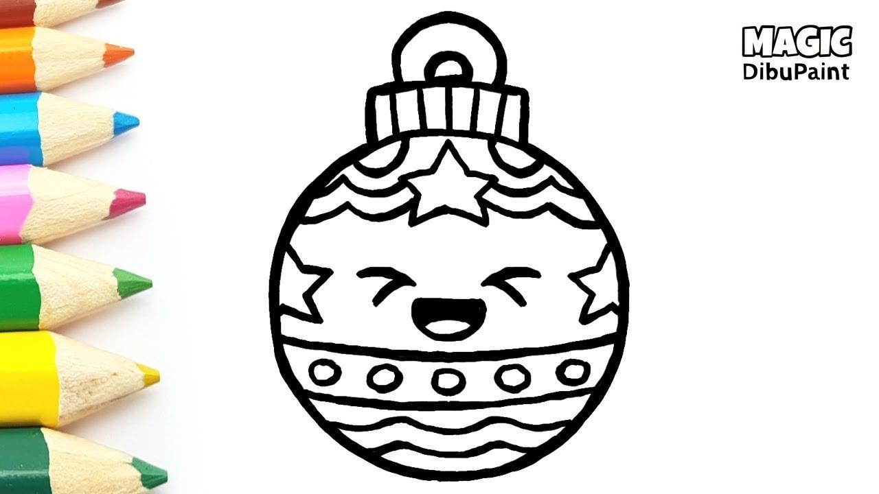 Dibujos Navidad | Bola navideña kawaii   YouTube