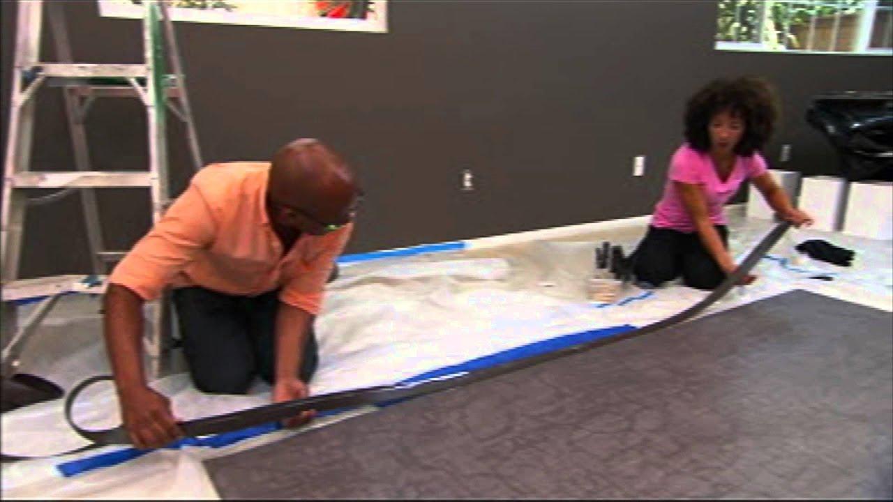 DIY Linoleum Rug