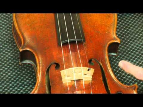 How to position violin bridge