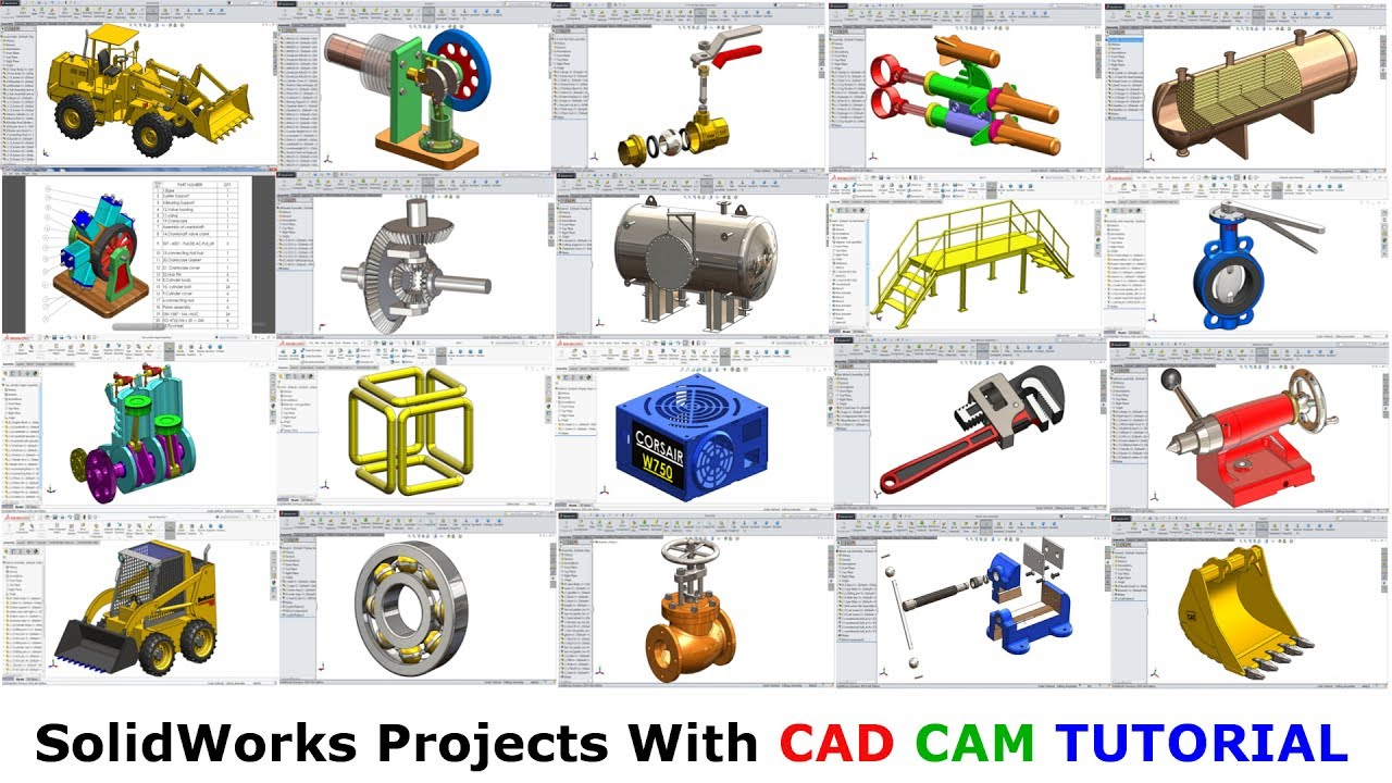 Solidworks Projects with CAD CAM TUTORIAL