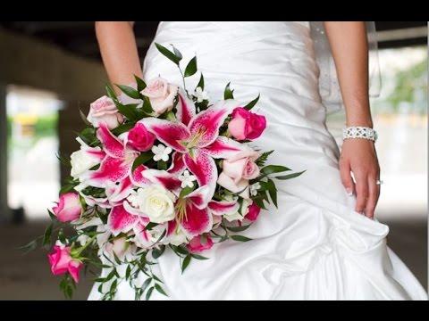Pink Stargazer Lily Wedding Bouquet