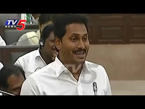 YS Jagan Comedy In AP Assembly Sessions | Satire On CBN Govt : TV5 News
