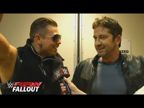 Gerard Butler meets The Miz: Raw Fallout, February 15, 2016