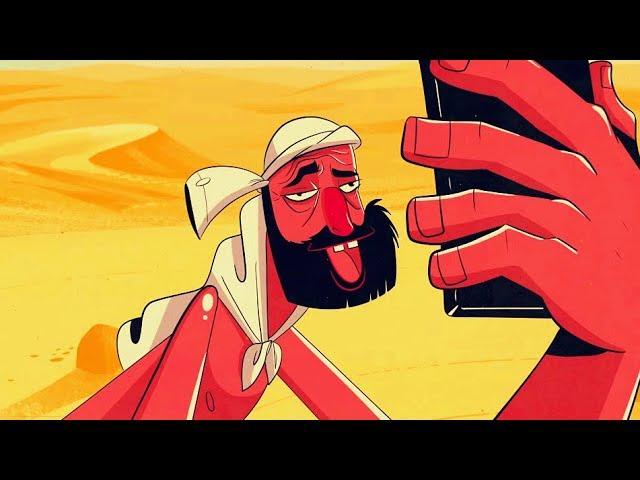 一部讽刺娱乐至死的黑暗短片!濒死男子被困沙漠,捡到手机第一件事竟不是求救!