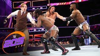Alexander \u0026 Swann vs. Gallagher \u0026 Kendrick - Tornado Tag Team Match: WWE 205 Live, Nov. 14, 2017