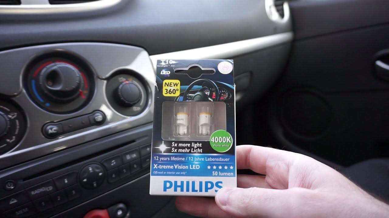 philips x tremevision led t10 w5w festoon 38mm 4000k car interior lights youtube. Black Bedroom Furniture Sets. Home Design Ideas