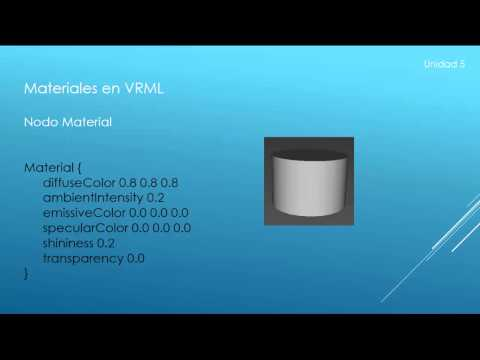 Tutorial 5 VRML - Curso sobre VRML como modificar la apariencia de un shape