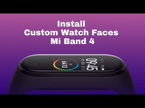 How to make Mi band 4 custom watch face.
