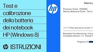 Test e calibrazione della batteria dei notebook HP (Windows 8)
